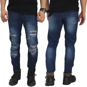 Jeans Ripped Mega Destroyed Dark Blue