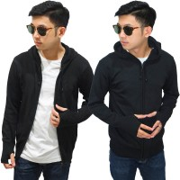 Knit Hoodie Fingerless Black