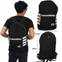 Tas Backpack Four Stripe Black