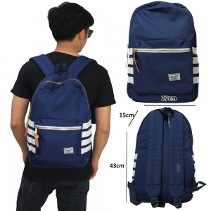 Tas Backpack Four Stripe Navy
