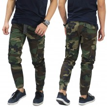 Celana Jogger Chino Cargo Camouflage Army