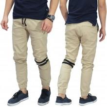 Celana Jogger Chino Double Stripe Khaki