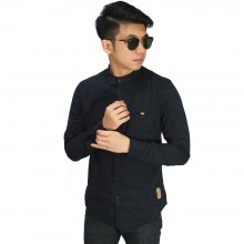 Kemeja Grandad Collar Basic Black