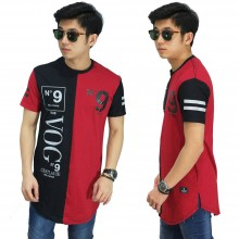 Longline T-Shirt VOG 9 Red