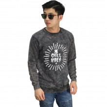 Sweatshirt Chill Vibes Black Washed