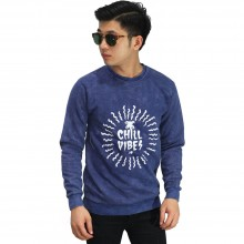 Sweatshirt Chill Vibes Navy Washed