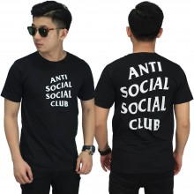 Kaos Anti Social Big Logo Black