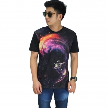 Kaos Printing Galaxy Surf Black