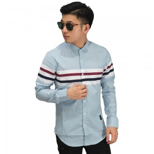 Kemeja Casual Middle Stripe Soft Blue