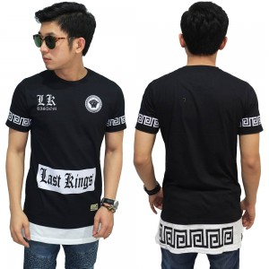 Longline T-Shirt Last King Wisdom Black