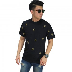 Kaos Banana Pattern Black