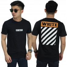 Kaos Off White Diag Block Black