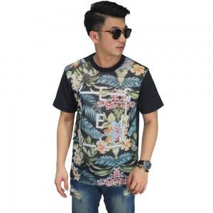 Mesh T-Shirt Floral Tropical
