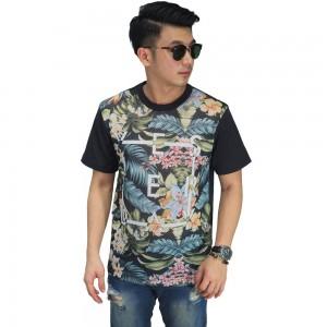 Mesh T-Shirt Floral Tropical