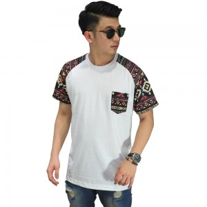 Raglan Sleeve Tribal White