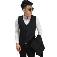 Vest Formal Basic Black