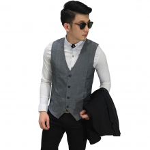 Vest Formal Basic Grey