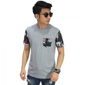 Kaos Sleeve Dark Floral Soft Grey