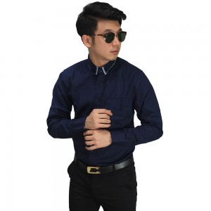 Kemeja Formal Double Collar Navy