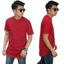 Longline T-Shirt Basic Red