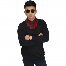 Sweater With Fake Shirt Black