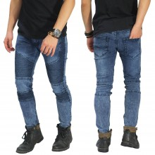Jeans Biker Extend Snow Wash Blue