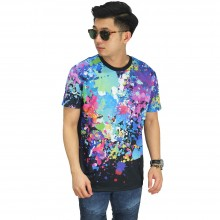 Kaos Printing Extra Paint Splash Black