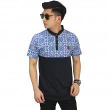 Polo Combine With Blue Batik