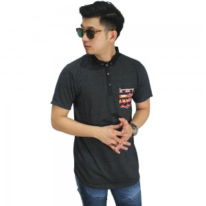 Polo Dark Stripe With Pocket Tribal