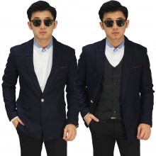 Blazer Formal Pocket List Dark Navy