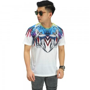 Kaos Printing Colorful Parrot Wings