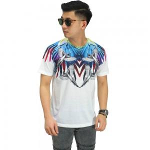 Kaos Printing Colorful Parrot Wings