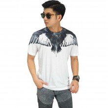 Kaos Printing Monochrome Eagle Wings