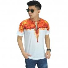 Kaos Printing Bird Wings On Fire