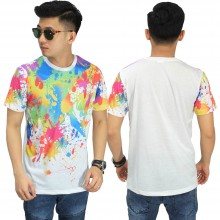 Kaos Printing Colorful Paint Splatter