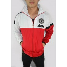 Jacket Manchester United White Mix Red