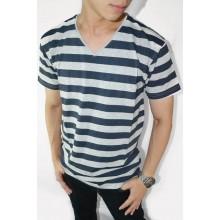 Striped Tee Navy n Grey