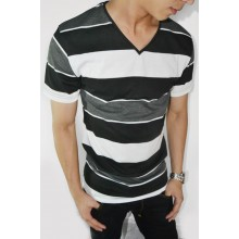 Striped Tee Three Layer