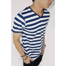 Striped Tee Navy n Broken White