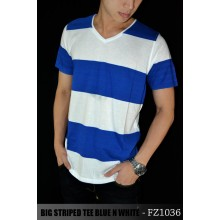 Big Striped Tee Blue n White