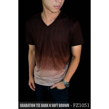 Gradation Tee Dark n Soft Brown