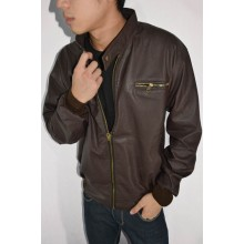 Jacket Leather Line Zipper