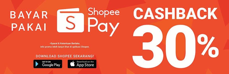 Bayar Pakai ShopeePay Cashback 30% hingga 5rb coin