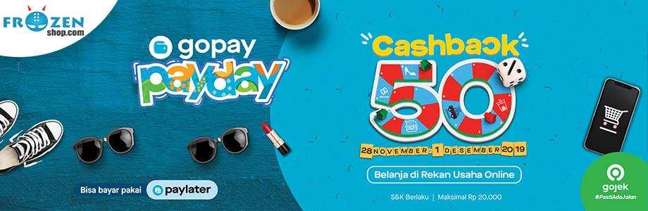 GoPay Payday November 2019 - Cashback 50% Maksimal Rp. 20.000