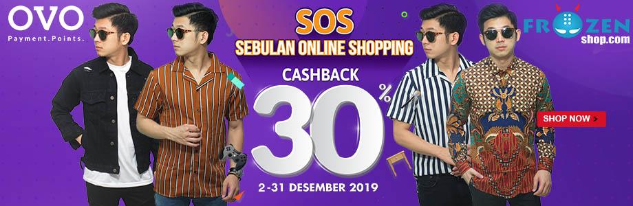 SOS! Sebulan Online Shopping OVO, Cashback 30% - Desember 2019