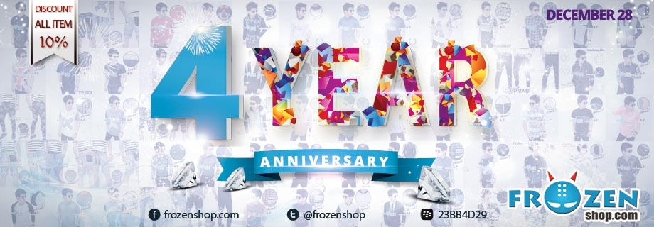 Frozenshop.com 4 Year Anniversary, Diskon 10% ALL ITEM