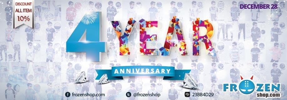 Frozenshop.com 4 Year Anniversary, Diskon 10% ALL ITEM