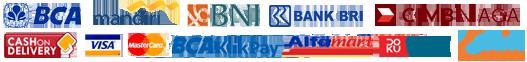 Melayani pembayaran melalui transfer antar bank BCA, BNI, BRI, Mandiri, CIMB maupun melalui Kartu Kredit, BCA KlikPay, Alfamart Group, Kredivo(Beli Sekarang, Bayar Nanti) maupun Cash on Delivery(COD), belanja semakin aman